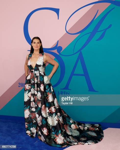 Brooke Shields attends the 2017 CFDA Fashion Awards at Hammerstein Ballroom on June 5 2017 in New York City