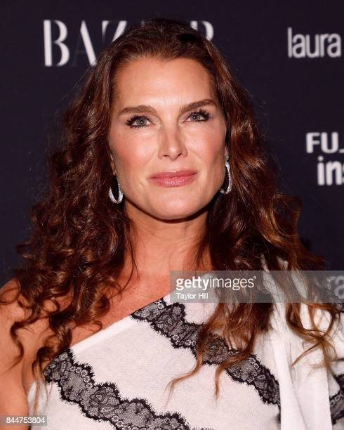 Brooke Shields attends the 2017 Harper ICONS party at The Plaza Hotel on September 8 2017 in New York City