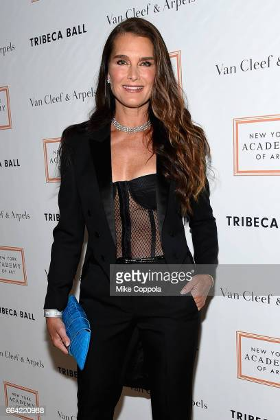 Brooke Shields attends the 2017 Tribeca Ball at the New York Academy of Art on April 3 2017 in New York City