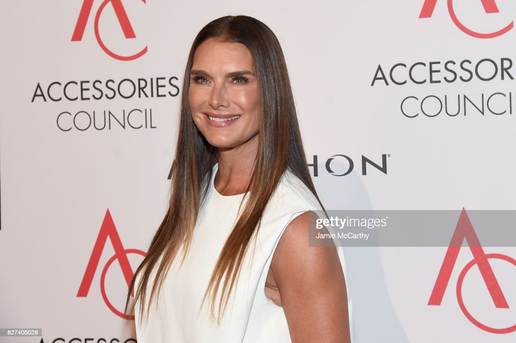 Brooke Shields attends the Accessories Council's 21st Annual celebration of the ACE awards at Cipriani 42nd Street on August 7, 2017 in New York City.
