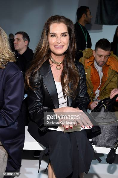 Brooke Shields attends the Calvin Klein Collection Front Row during New York Fashion Week on February 10 2017 in New York City