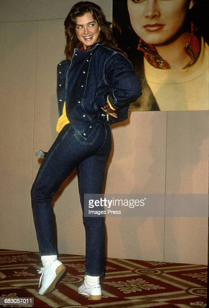 Brooke Shields attends the Launch of the Brooke Shields Jeans Collection circa 1985 in New York City