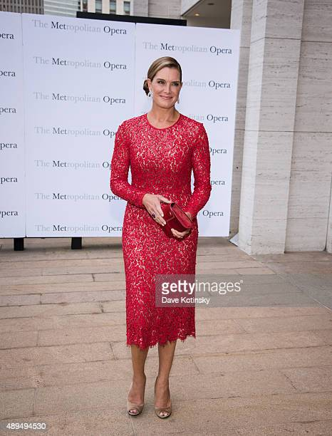 Brooke Shields attends the Metropolitan Opera 20152016 season opening night of 'Otello' at The Metropolitan Opera House on September 21 2015 in New...