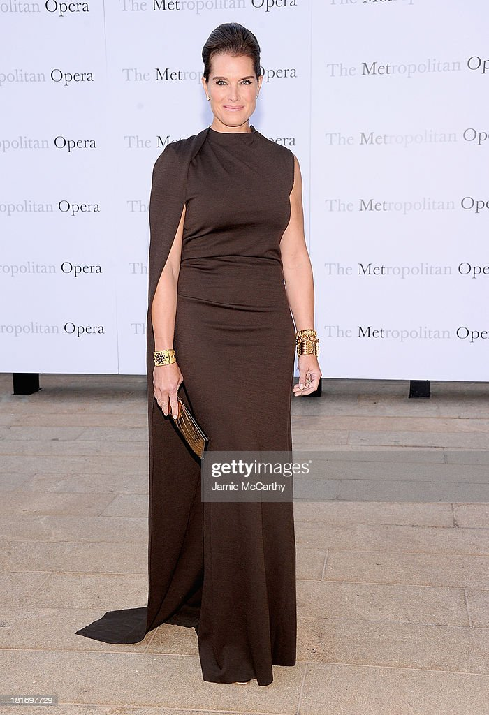 Brooke Shields attends the Metropolitan Opera Season Opening Production Of 'Eugene Onegin' at The Metropolitan Opera House on September 23, 2013 in New York City.