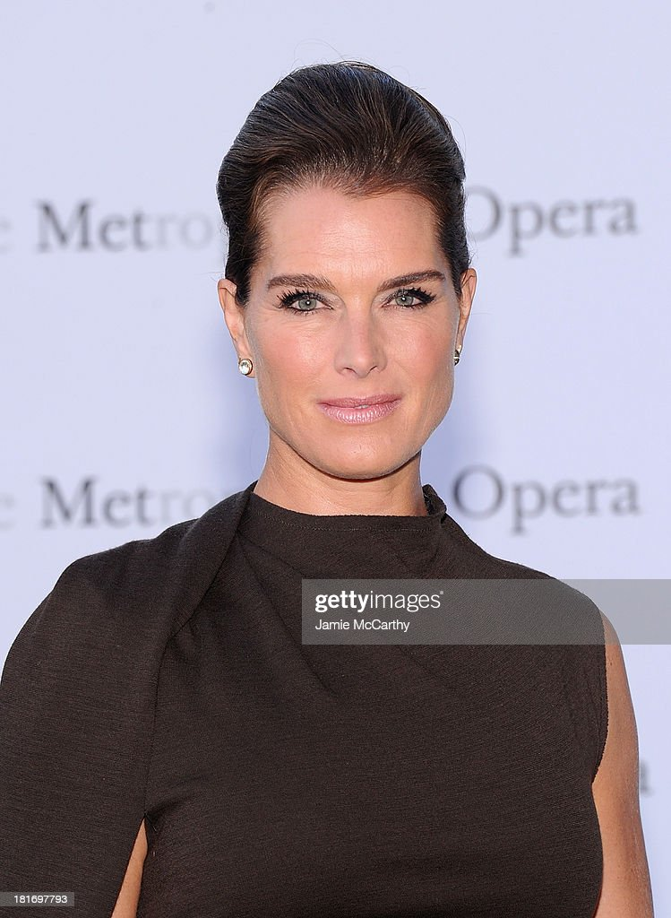 <a gi-track='captionPersonalityLinkClicked' href=/galleries/search?phrase=Brooke+Shields&family=editorial&specificpeople=202197 ng-click='$event.stopPropagation()'>Brooke Shields</a> attends the Metropolitan Opera Season Opening Production Of 'Eugene Onegin' at The Metropolitan Opera House on September 23, 2013 in New York City.