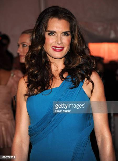 Brooke Shields attends 'The Model as Muse Embodying Fashion' Costume Institute Gala at The Metropolitan Museum of Art on May 4 2009 in New York City
