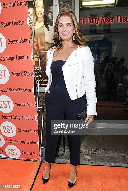 Brooke Shields attends the OffBroadway Opening Night of 'Whorl Inside A Loop' at Second Stage Theatre on August 27 2015 in New York City