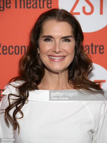 Brooke Shields attends the OffBroadway Opening Night performance of 'Man From Nebraska' at the Second StageTheatre on February 15 2017 in New York...