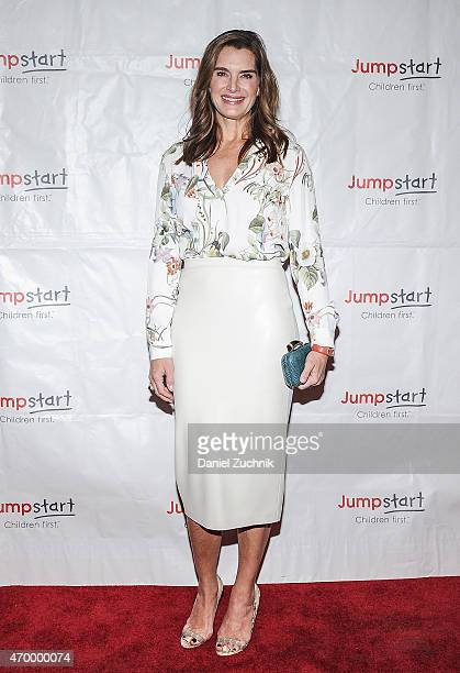 Brooke Shields attends the Scribbles To Novels 10th Anniversary Gala at Pier Sixty at Chelsea Piers on April 16 2015 in New York City