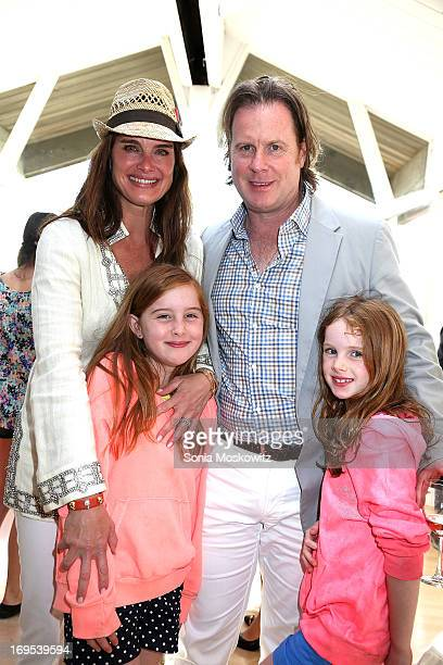 Brooke Shields Chris Henchy and daughters Rowan Henchy and Grier Henchy attend Haley Jason Binn's Annual DuJour Summer Kick Off Soiree with The...