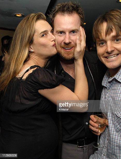 Brooke Shields Chris Henchy and guest during 2003 UTA UpFront Party at LIGHT in New York City New York United States