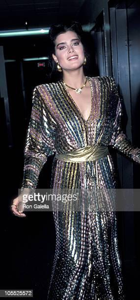 Brooke Shields during 'Bob Hope Christmas Special' Taping November 30 1986 at NBCTV Studios in Burbank California United States