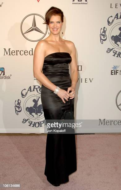 Brooke Shields during MercedesBenz Presents the 17th Carousel of Hope Ball Arrivals at Beverly Hilton Hotel in Beverly Hills California United States