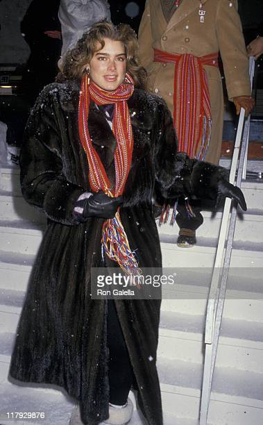 Brooke Shields during Pepsi Celebrity Ski Invitational in Conjunction with Quebec's Winter Carnival at Mount St Anne in Beaupré Quebec Canada