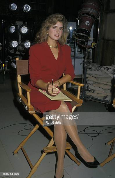 Brooke Shields during Taping of Bob Hope Special 1988 at NBC Studios in Burbank California United States