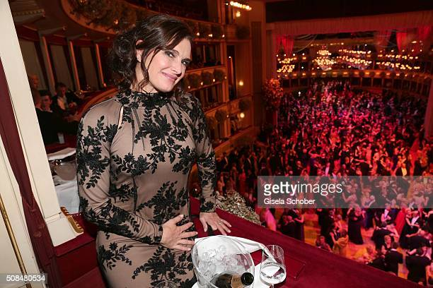 Brooke Shields during the Opera Ball Vienna 2016 at Vienna State Opera on February 4 2016 in Vienna Austria