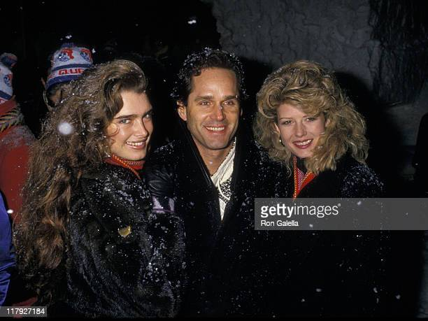 Brooke Shields Gregory Harrison and Fawn Hall during Pepsi Celebrity Ski Invitational in Conjunction with Quebec's Winter Carnival at Mount St Anne...