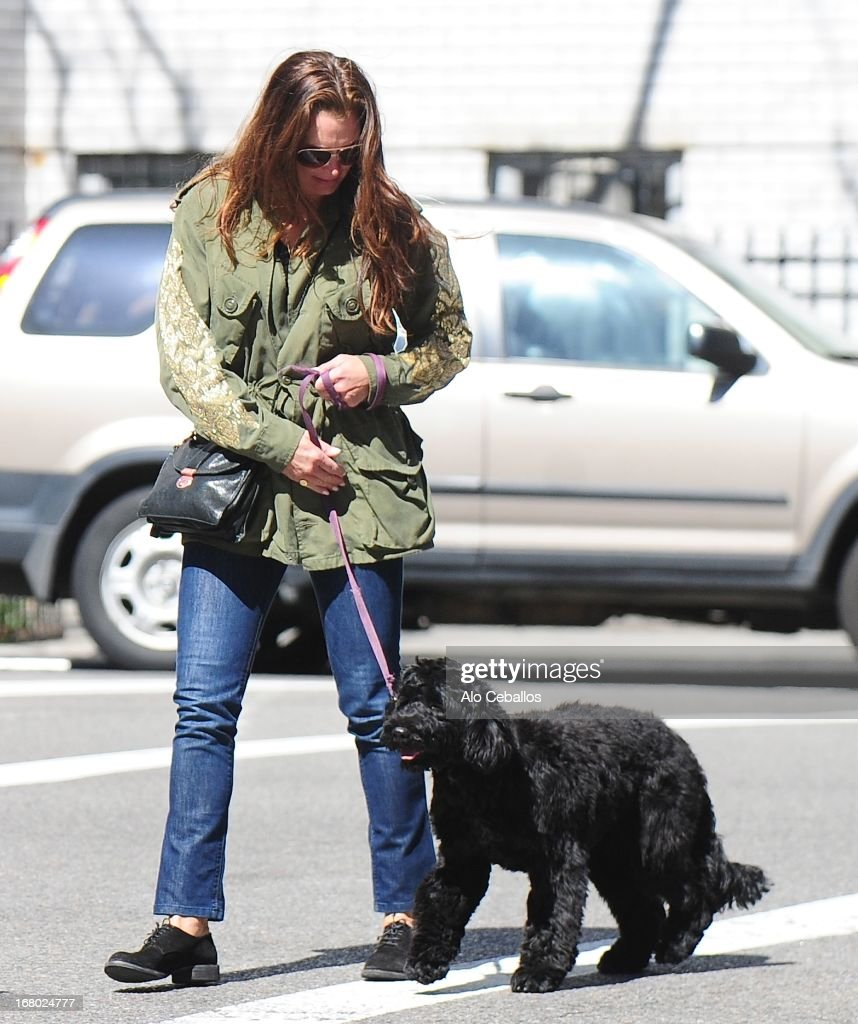 Brooke Shields is seen in the East Village on May 4 2013 in New York City