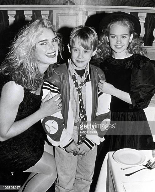 Brooke Shields Macaulay Culkin and Laura Bundy during Children's Division of The Ford Modeling Agency's Holiday Party at New York City Country Club...