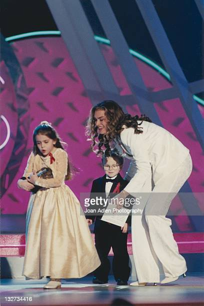 Brooke Shields Mae Whitman and Jonathan Lipnicki at the American Comedy Awards on February 9 1997 at the Shrine Auditorium in Los Angeles California