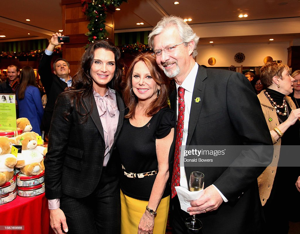 Brooke Shields, Marlo Thomas and Claudio Del Vecchio attend The Brooks Brothers Hosts Seventh Annual Holiday Celebration To Benefit St Jude Children's Research Hospital on December 12, 2012 in New York City.
