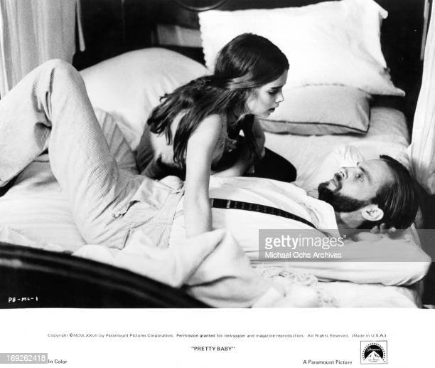 Brooke Shields seduces Keith Carradine in a scene from the film 'Pretty Baby' 1978