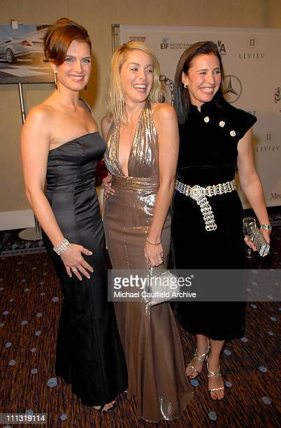 Brooke Shields Sharon Stone and Mimi Rogers during MercedesBenz Presents the 17th Carousel of Hope Ball VIP Room at Beverly Hilton in Beverly Hills...