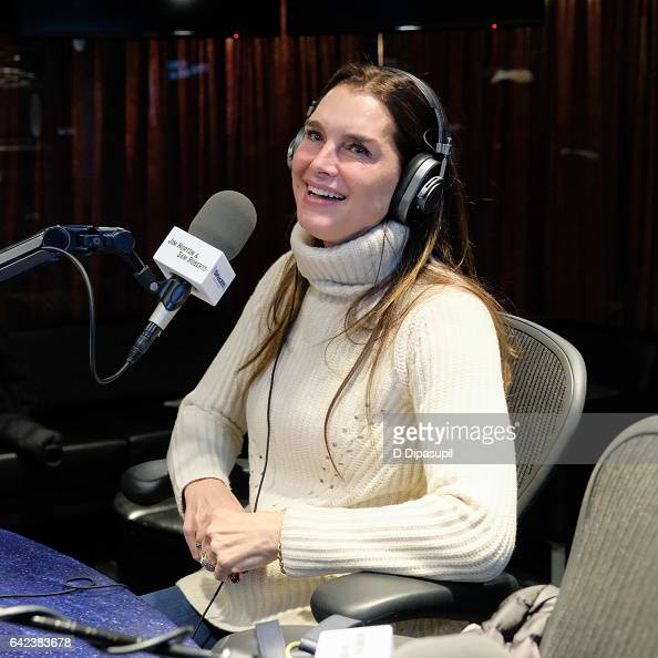 Brooke Shields visits SiriusXM Studios on February 17 2017 in New York City