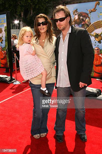 Brooke Shields with her husband Chris Henchy and daughter Rowan