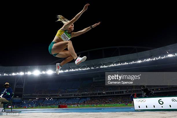 Brooke Stratton of Australia competes in the Women's Long Jump final on Day 12 of the Rio 2016 Olympic Games at the Olympic Stadium on August 17 2016...