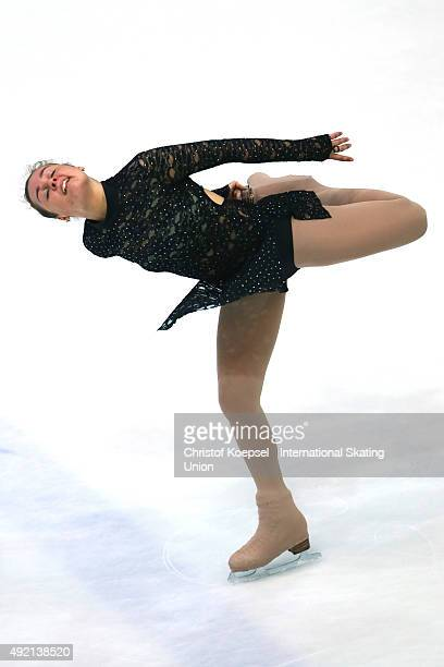 Brooke Tamepo of New Zealand skates during the junior ladies free skating of the ISU Junior Grand Prix at Dom Sportova on October 10 2015 in Zagreb...