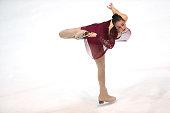 Brooke Tamepo of New Zealand skates during the junior ladies short dance of the ISU Junior Grand Prix at Dom Sportova on October 8 2015 in Zagreb...