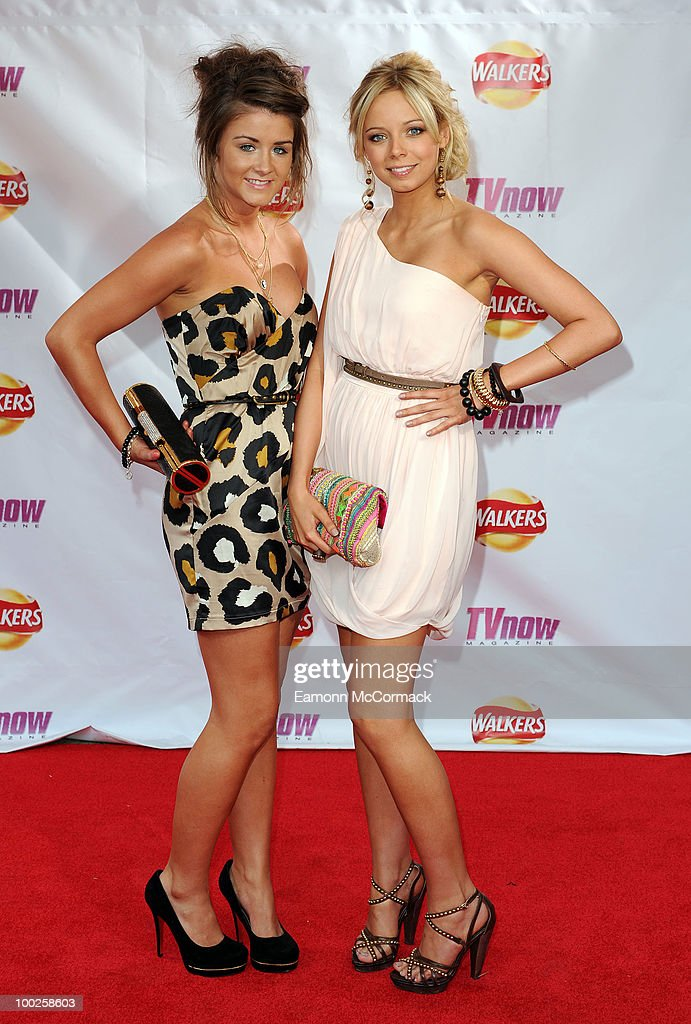 Brooke Vincent and Sacha Parkinson attend the TV Now Awards on May 22, 2010 in Dublin, Ireland.