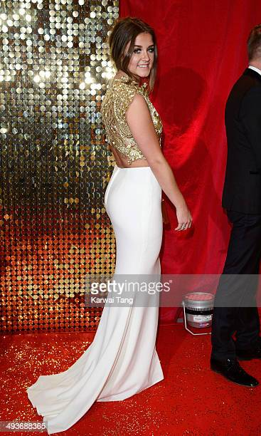 Brooke Vincent attends the British Soap Awards held at the Hackney Empire on May 24 2014 in London England