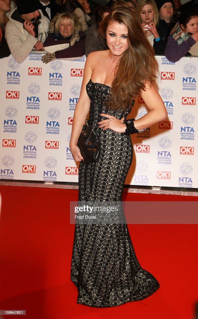 Brooke Vincent attends the National Television Awards at 02 Arena on January 23, 2013 in London, England.