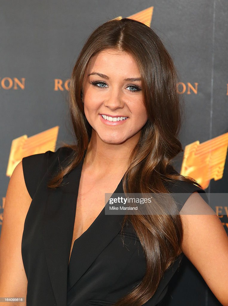Brooke Vincent attends the RTS Programme Awards at Grosvenor House, on March 19, 2013 in London, England.