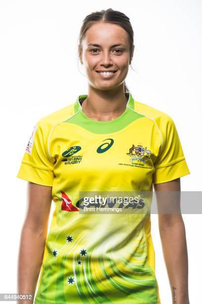 Brooke Walker poses during an Australia Women's Sevens headshots session on January 25 2017 in Sydney Australia