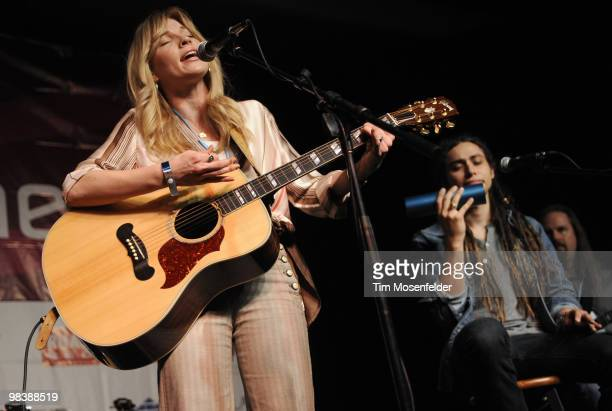 Brooke White and Jason Castro performs at Aloft Hotels' Live in the Vineyard Presented By Aloft Hotels on April 10 2010 in Napa California
