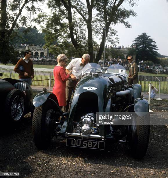 A brookland 45 litre Bentley entred and driven by BM RussTurner in a cavalcade of racing cars of all ages on the Crystal Palace circuit This car is...