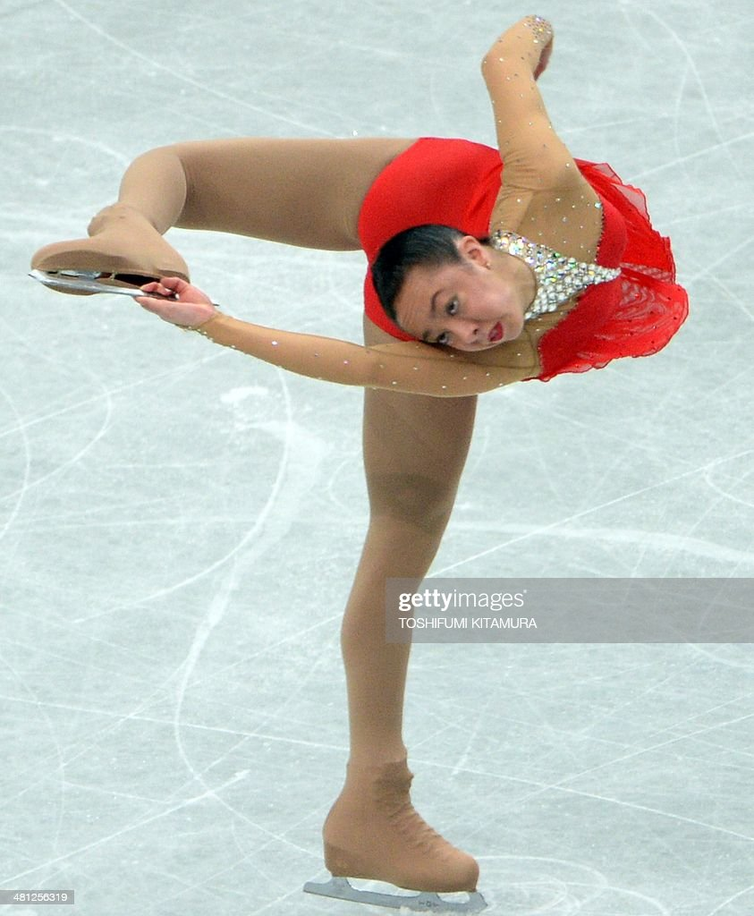 Brooklee Han of Australia performs during her free skating in the women's singles at the world figure skating championships in Saitama on March 29, 2014.