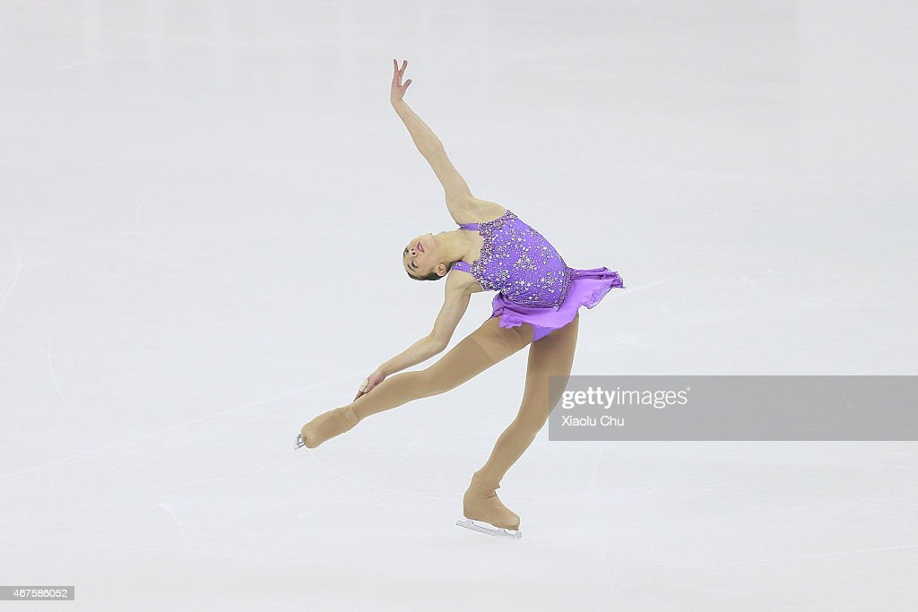 <a gi-track='captionPersonalityLinkClicked' href=/galleries/search?phrase=Brooklee+Han&family=editorial&specificpeople=7526263 ng-click='$event.stopPropagation()'>Brooklee Han</a> of Australia performs during the Ladies Short Program on day two of the 2015 ISU World Figure Skating Championships at Shanghai Oriental Sports Center on March 26, 2015 in Shanghai, China.