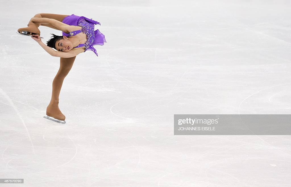<a gi-track='captionPersonalityLinkClicked' href=/galleries/search?phrase=Brooklee+Han&family=editorial&specificpeople=7526263 ng-click='$event.stopPropagation()'>Brooklee Han</a> of Austria performs during her ladies short program of the 2015 ISU World Figure Skating Championships at Shanghai Oriental Sports Center in Shanghai on March 26, 2015.