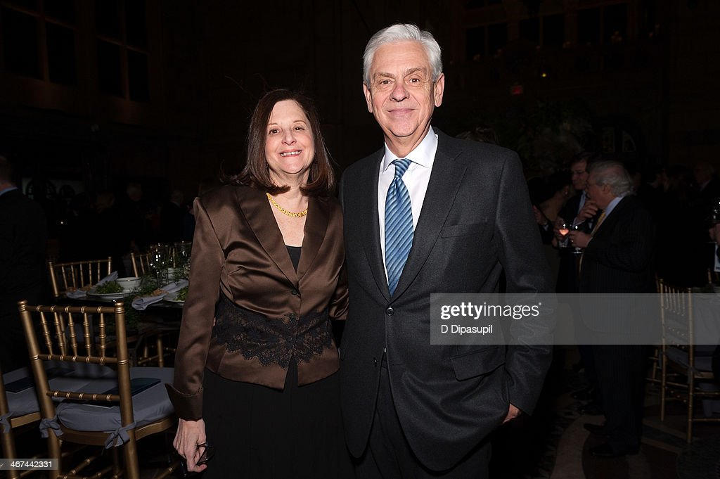 Brooklyn Academy of Music president Karen Brooks Hopkins and Gary G Lynch attend the 2014 BAM Theater gala at Skylight One Hanson on February 6 2014...