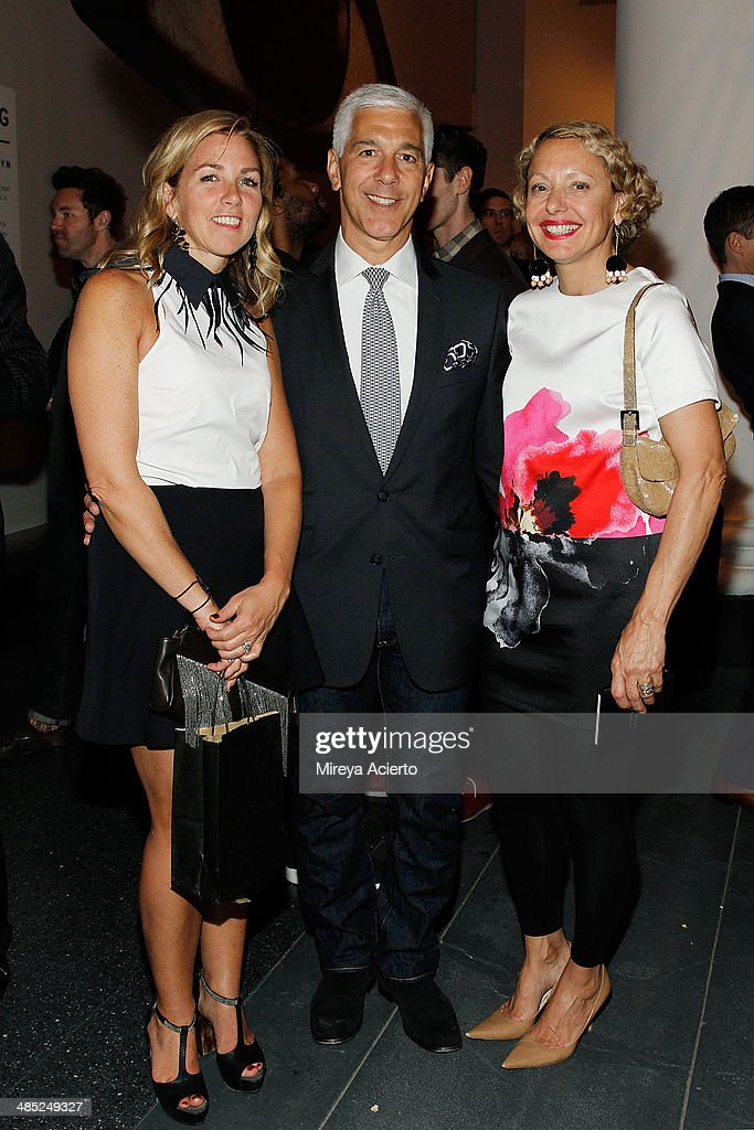 Brooklyn Ball Co-Chair Stephanie Ingrassia, attorney Dino Mastropietro and designer Karen Pandiani attend the Brooklyn Museum's 4th annual Brooklyn Artists Ball on April 16, 2014 in the Brooklyn borough of New York City.