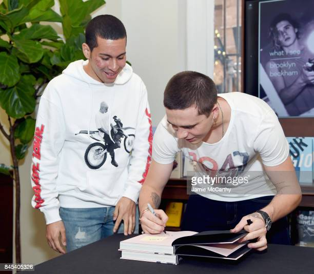 Brooklyn Beckham and guest attends as Brooklyn Beckham signs WHAT I SEE at Rizzoli New York at Rizzoli Bookstore on September 10 2017 in New York City