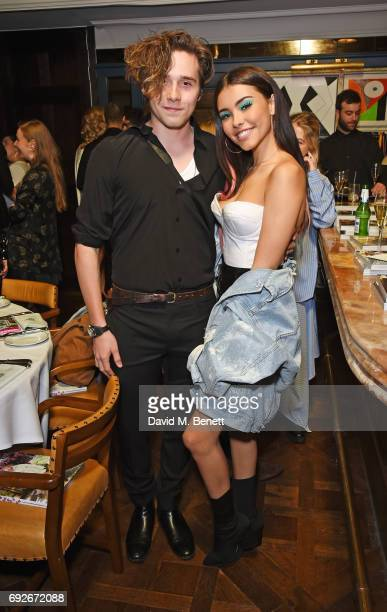 Brooklyn Beckham and Madison Beer attend the Wonderland Summer Issue dinner hosted by Madison Beer at The Ivy Soho Brasserie on June 5 2017 in London...