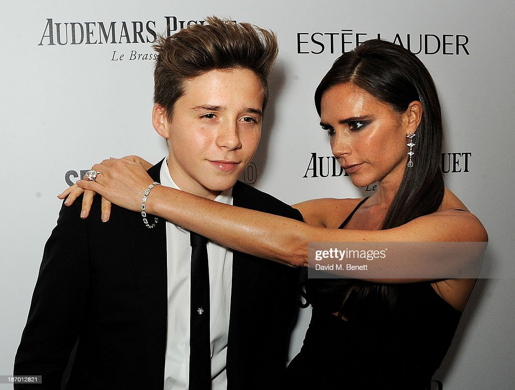 <a gi-track='captionPersonalityLinkClicked' href=/galleries/search?phrase=Brooklyn+Beckham&family=editorial&specificpeople=214623 ng-click='$event.stopPropagation()'>Brooklyn Beckham</a> (L) and <a gi-track='captionPersonalityLinkClicked' href=/galleries/search?phrase=Victoria+Beckham&family=editorial&specificpeople=161100 ng-click='$event.stopPropagation()'>Victoria Beckham</a> arrive at the Harper's Bazaar Women of the Year awards at Claridge's Hotel on November 5, 2013 in London, England.