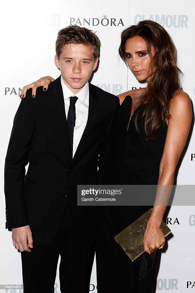 Brooklyn Beckham and Victoria Beckham attend Glamour Women of the Year Awards 2013 at Berkeley Square Gardens on June 4, 2013 in London, England.