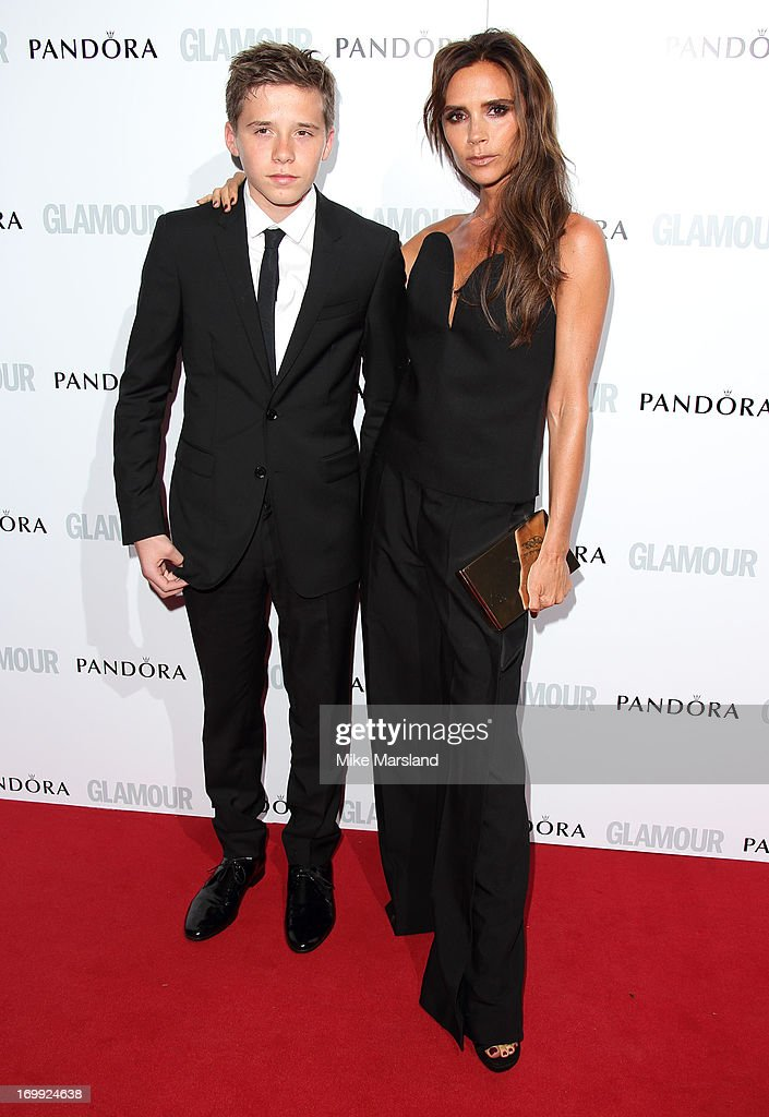 <a gi-track='captionPersonalityLinkClicked' href=/galleries/search?phrase=Brooklyn+Beckham&family=editorial&specificpeople=214623 ng-click='$event.stopPropagation()'>Brooklyn Beckham</a> and Victoria Beckham attend Glamour Women of the Year Awards 2013 at Berkeley Square Gardens on June 4, 2013 in London, England.