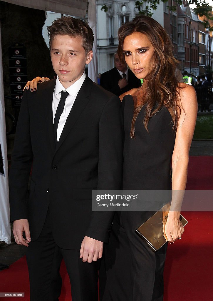 Brooklyn Beckham and Victoria Beckham attends Glamour Women of the Year Awards 2013 at Berkeley Square Gardens on June 4, 2013 in London, England.